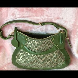 DKNY Small Green Leather Bag